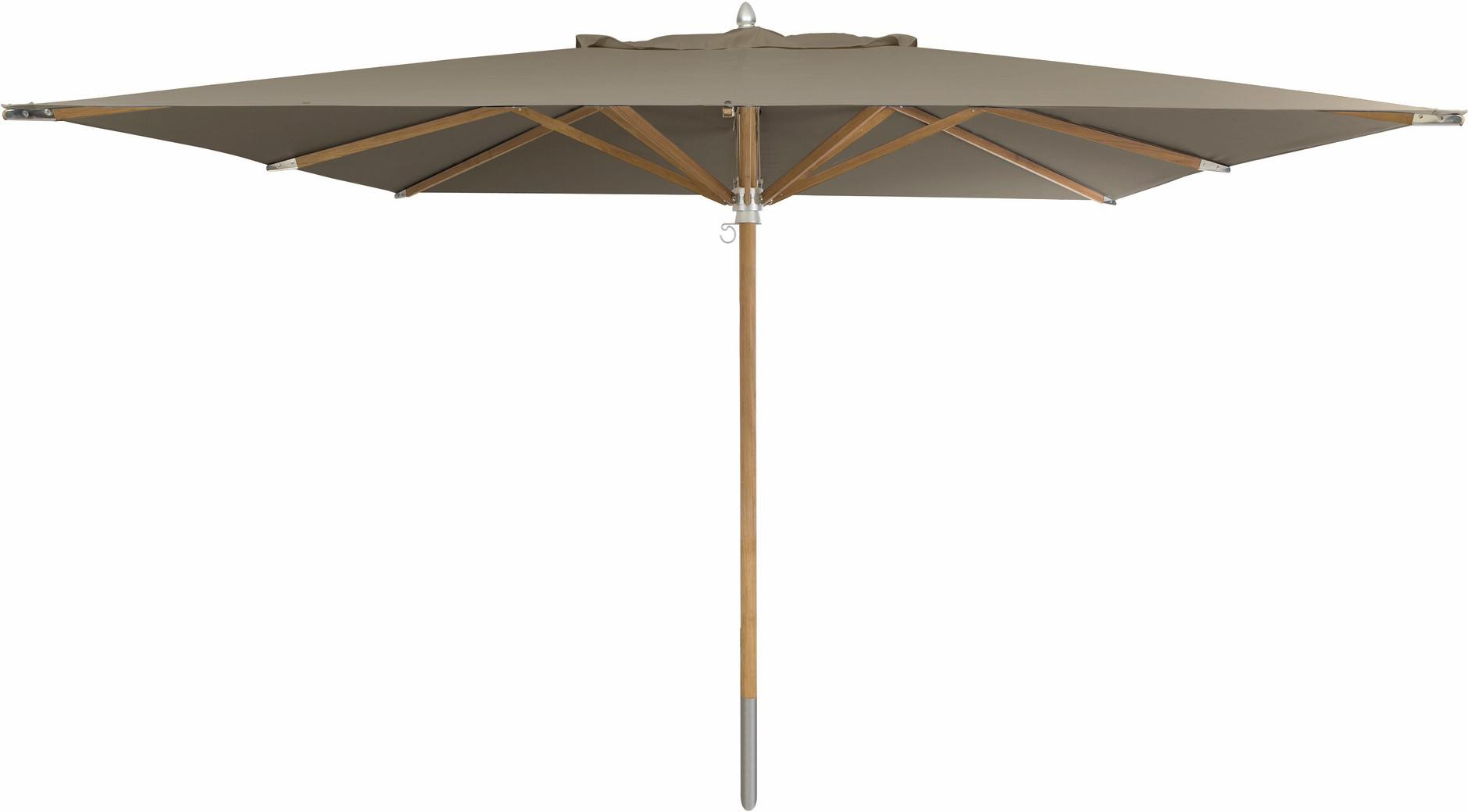 Umbrella central pole teak 350*350 taupe