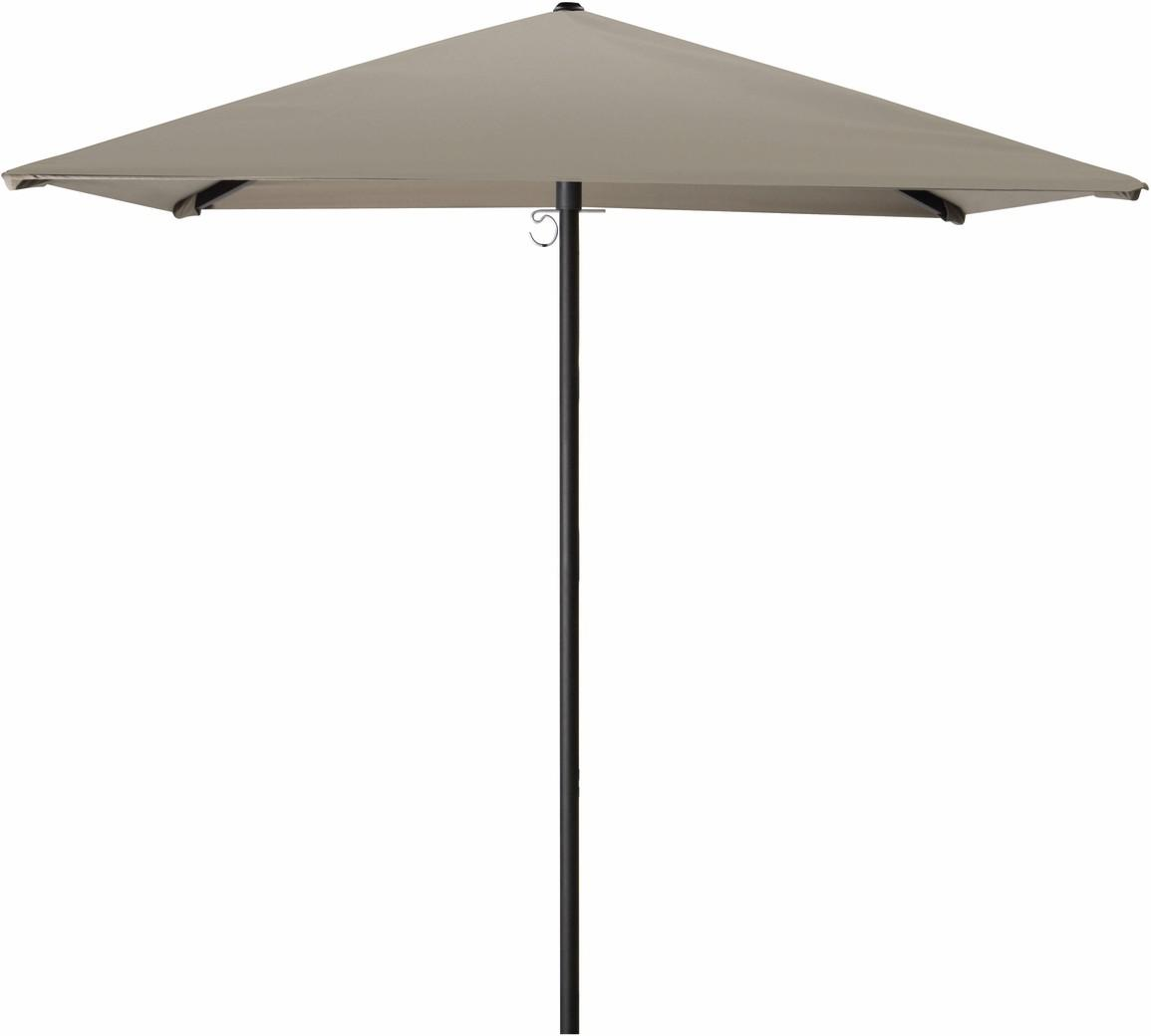 Umbrella small - central pole black - 180x180 AW taupe