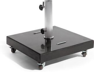 Sonnenschirm-Fuß - Granitstein 80 kg (Rollen)
