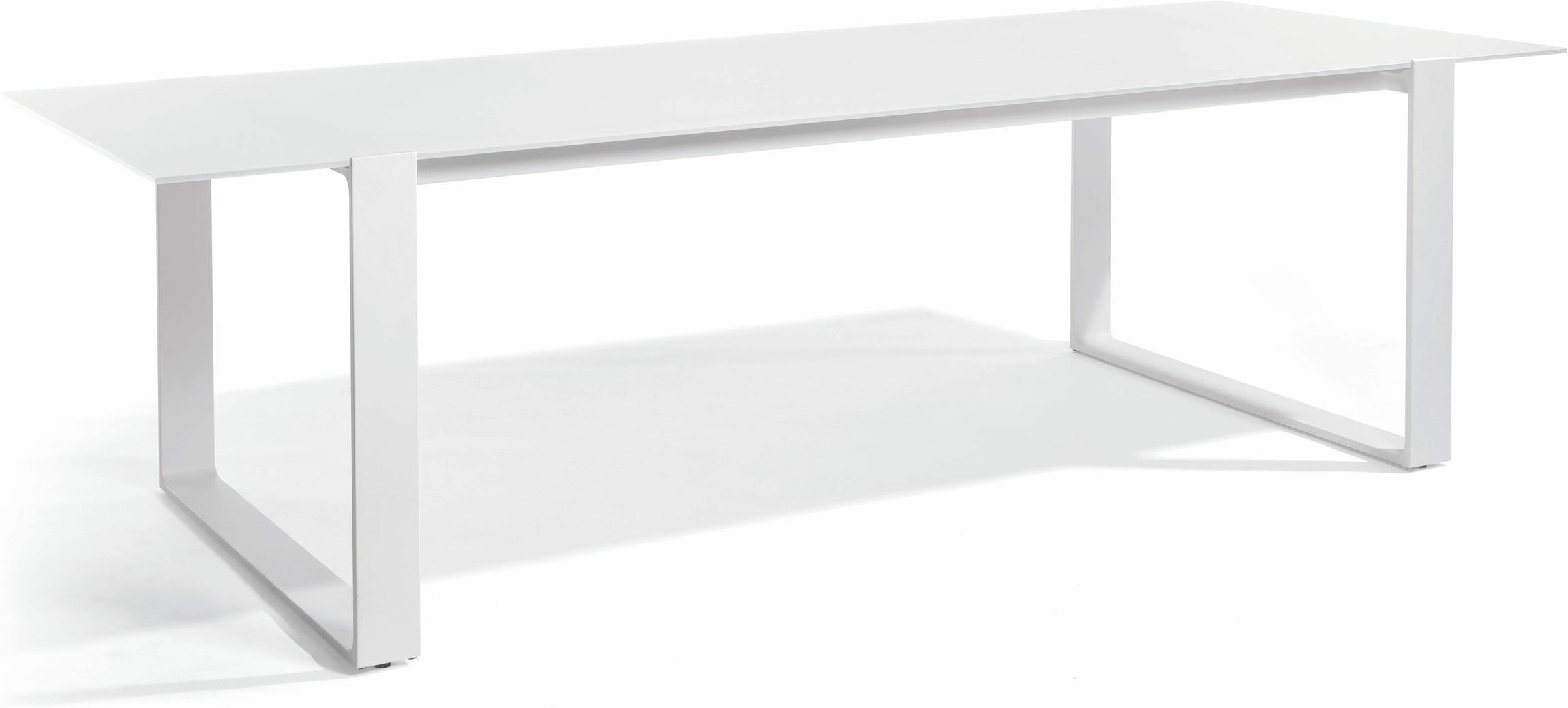 Prato Dining table - white - glass white 270