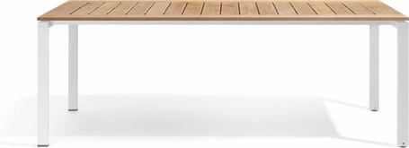 Dining table - teak slates in frame 212,5