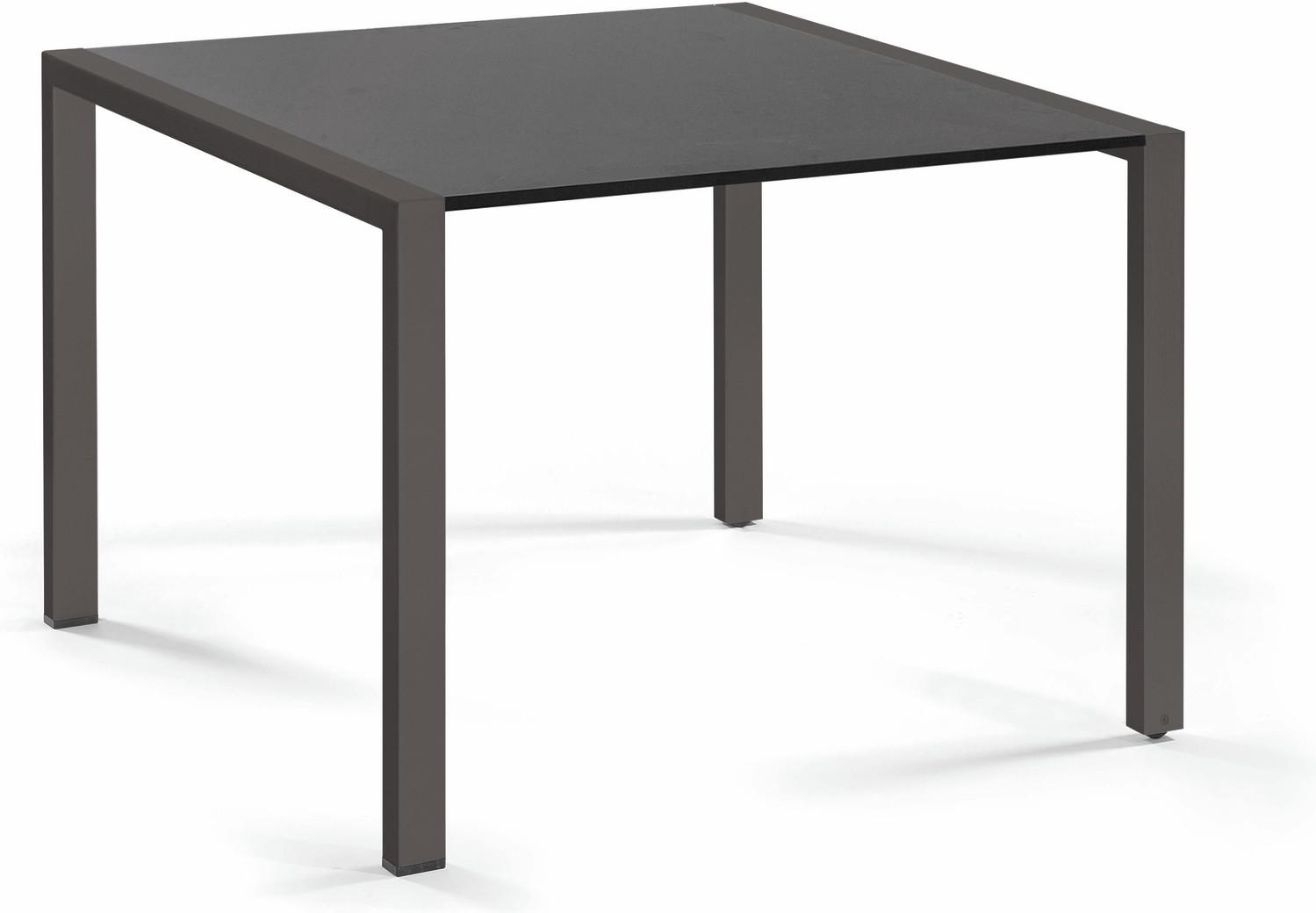 Trento Dining table - glass black GLB 90