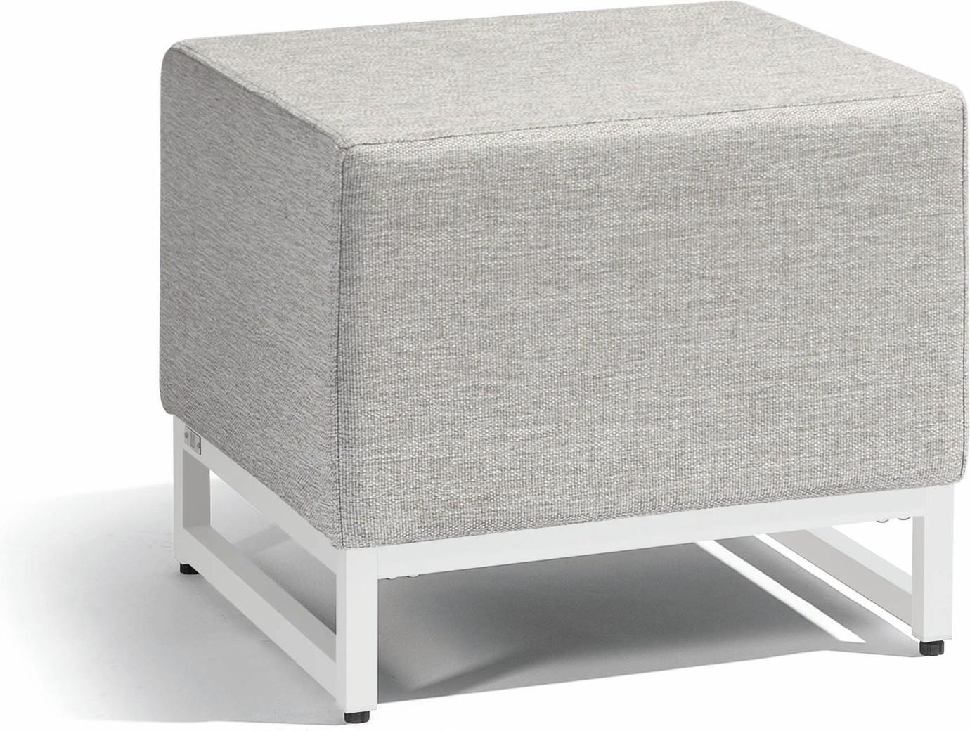Zendo small footstool seat - white - lotus smokey