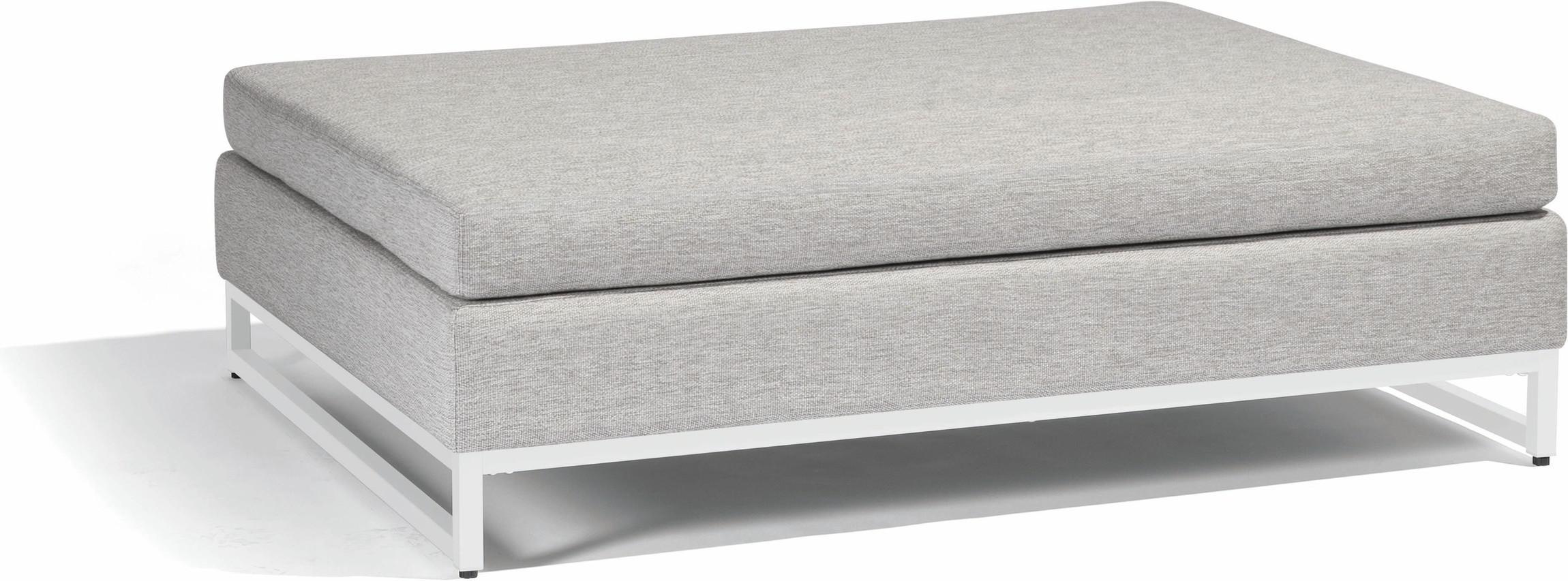 Zendo large footstool - white - lotus smokey