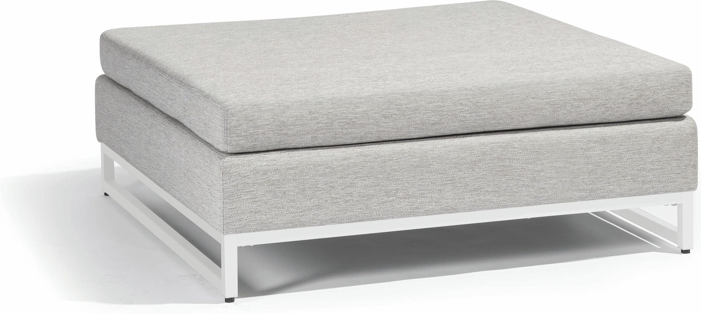 Zendo medium footstool - white - lotus smokey
