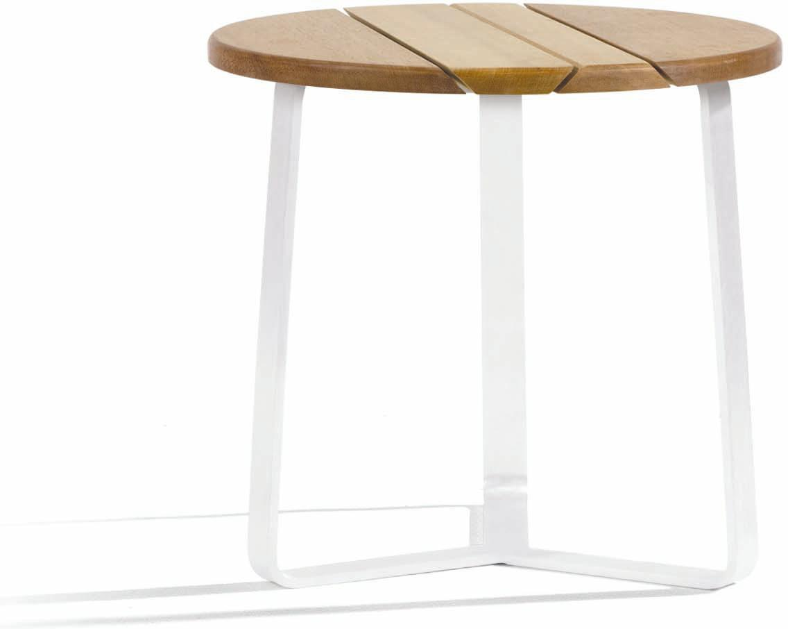 Outdoor side tables round - white - Iroko 80