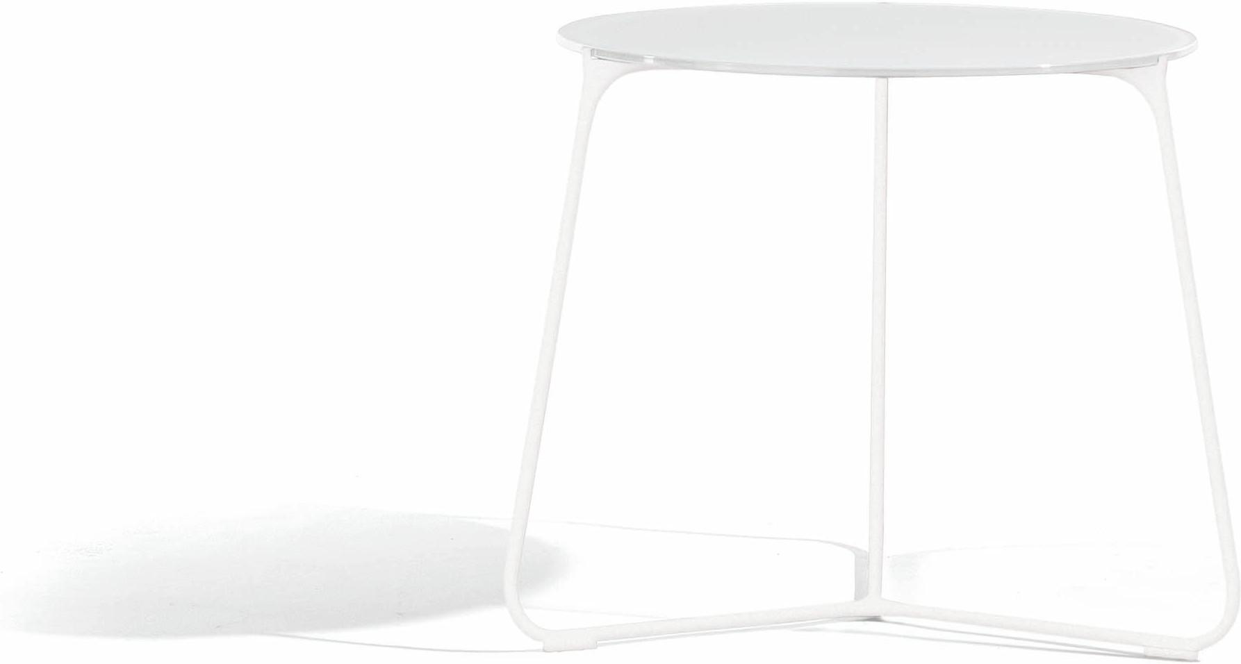 Table basse Mood - blanc - verre blanc - 60