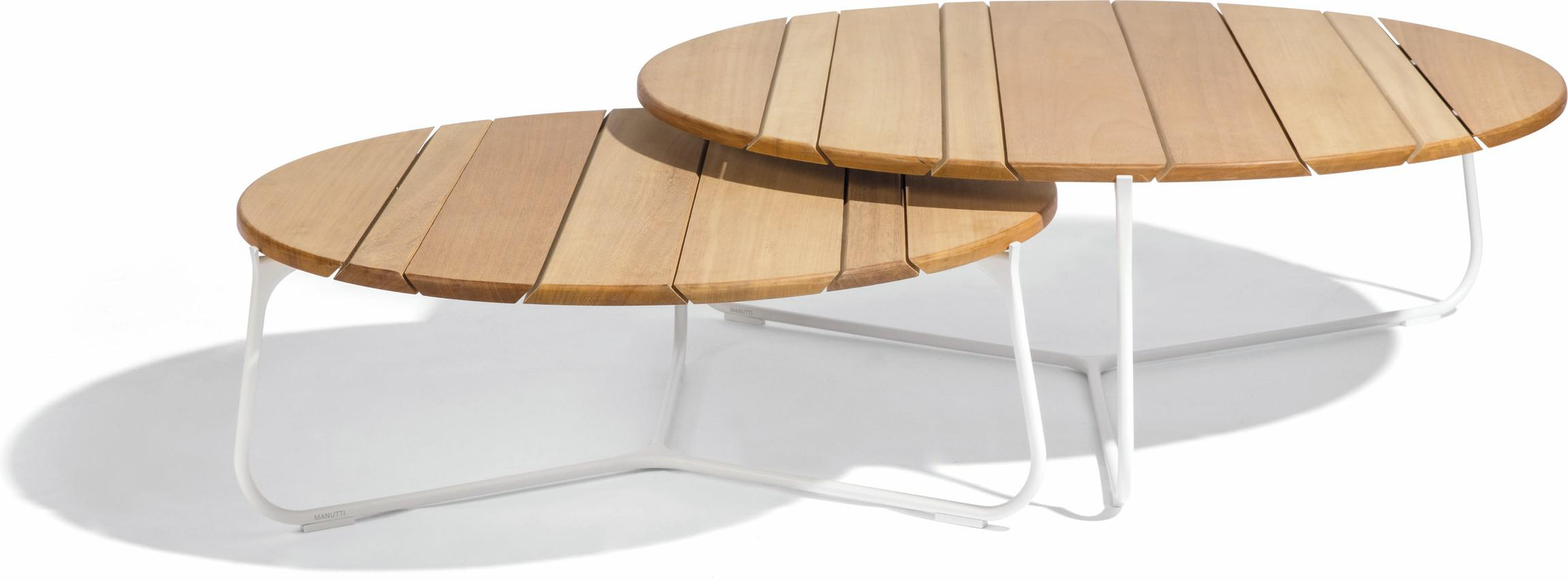 Table basse Mood - blanc - iroko IR - 80