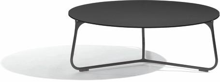 coffee table - lava - glass black - 80