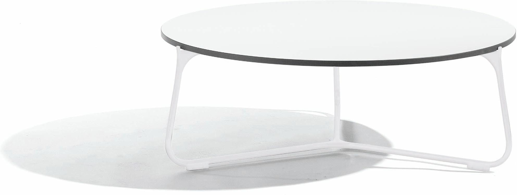 Table basse Mood - blanc - trespa blanc - 80