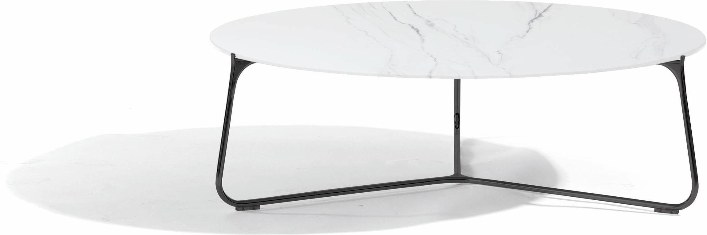 Table basse Mood - lave - céramique marbre blanc - 100