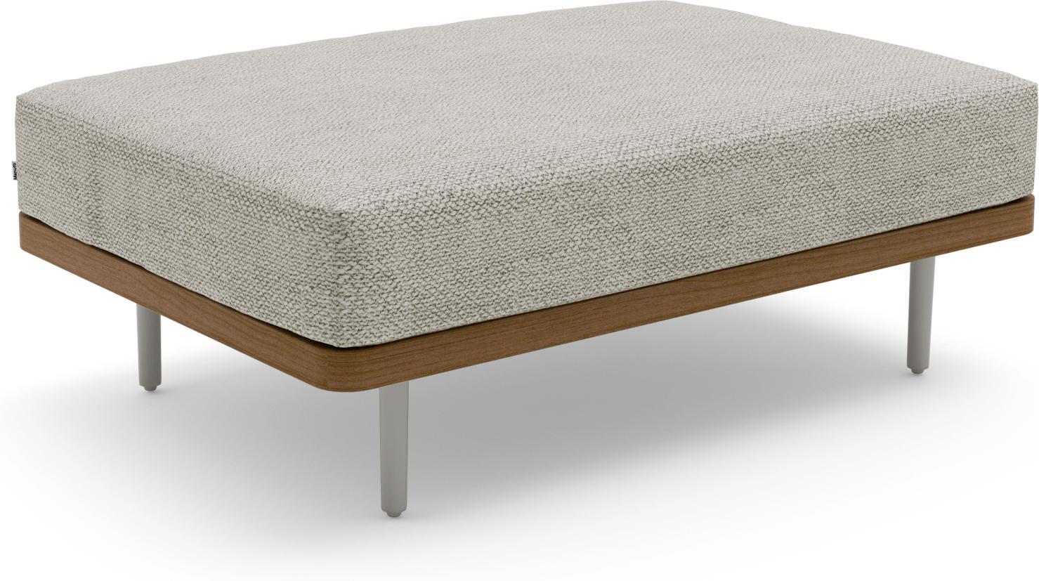 Flex großer Fußhocker/Lounge-Tisch - flintgrau - Teak