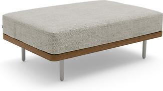 Flex Large footstool/Loungetable - flint - Teak