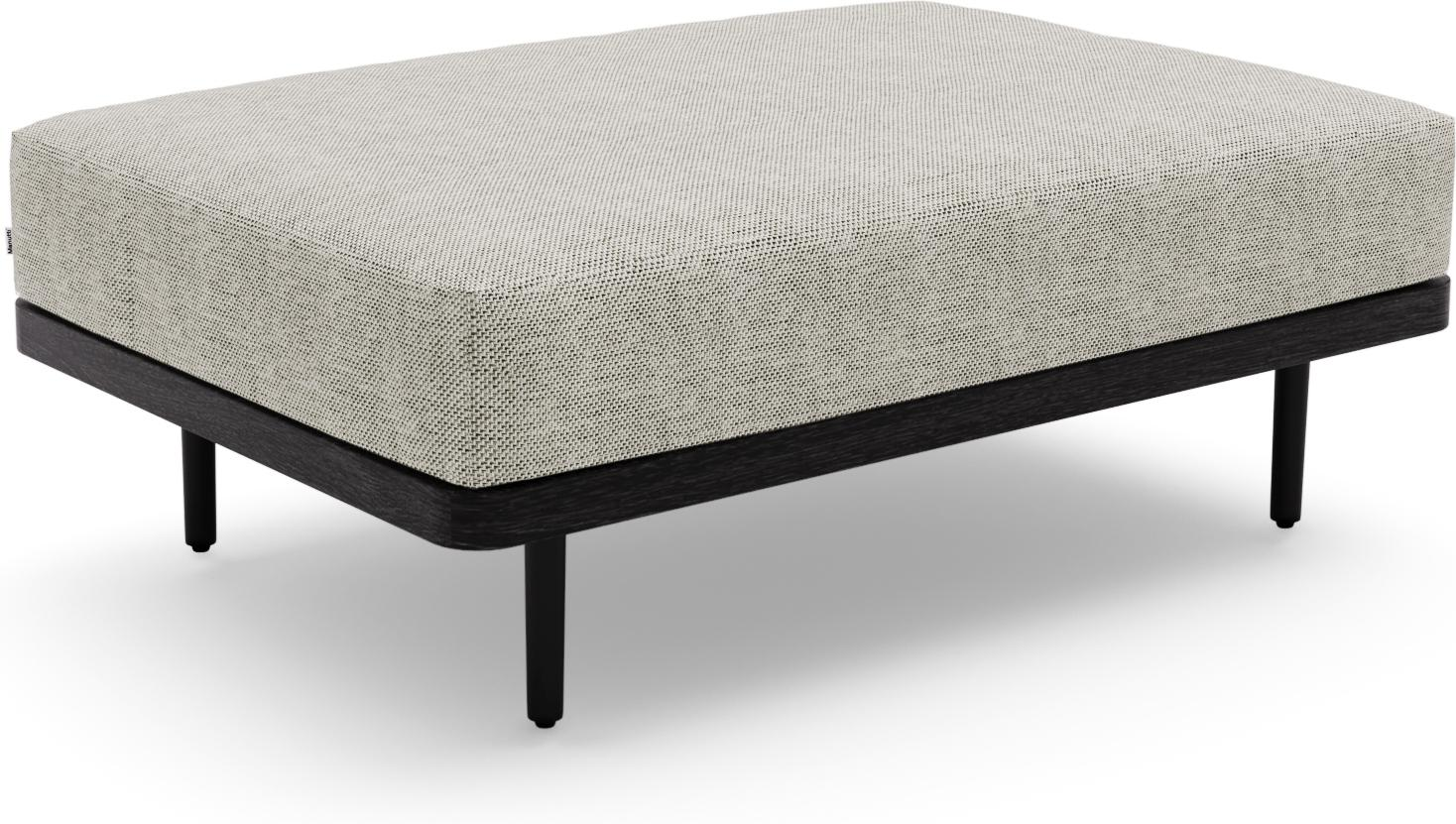 Flex Large footstool/Loungetable teak nero black