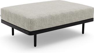 Flex Large footstool/Loungetable teak nero black