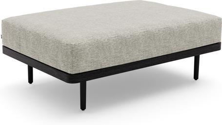 Large footstool/Loungetable teak nero black