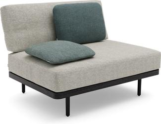 Flex Large middle seat teak nero black