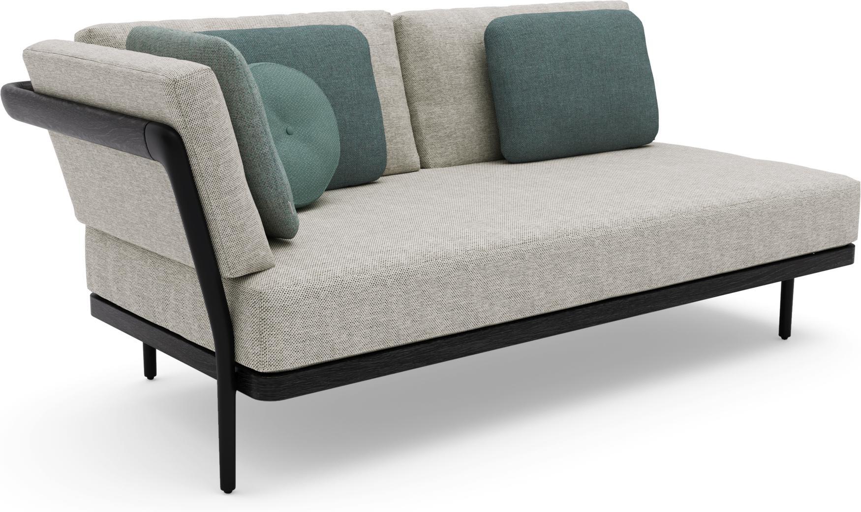 Flex Right corner double seat - lava - teak nero