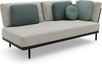 Flex Left corner double seat - lava - teak nero