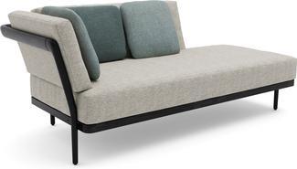 Flex Right corner double end seat - lava - teak nero