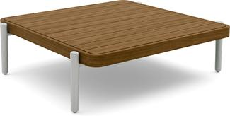 Flex Medium coffee table - flint  - Teak