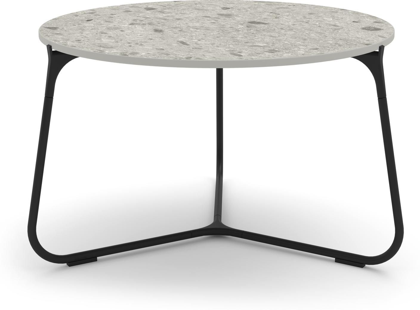 Mood coffee table 60 - lava - ceramic fossil