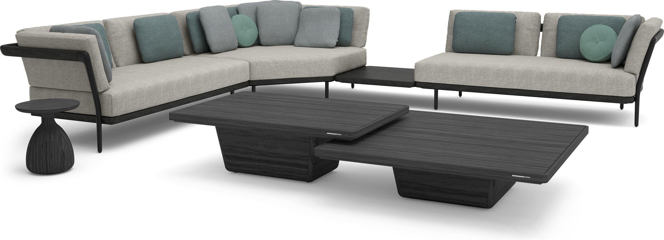 Cobi coffee table 113x113x30 teak scuro