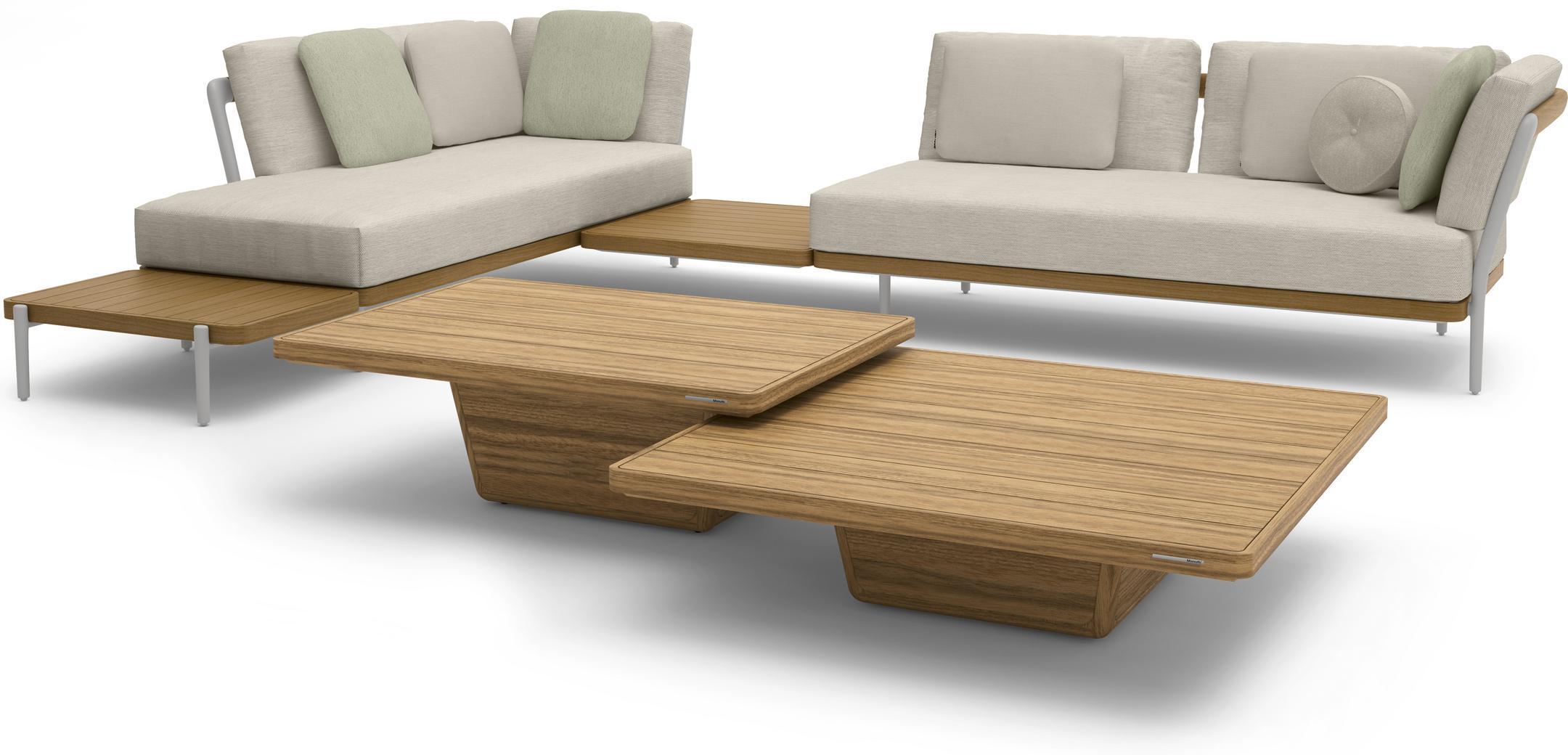 Cobi coffee table 113x113x30 brushed teak