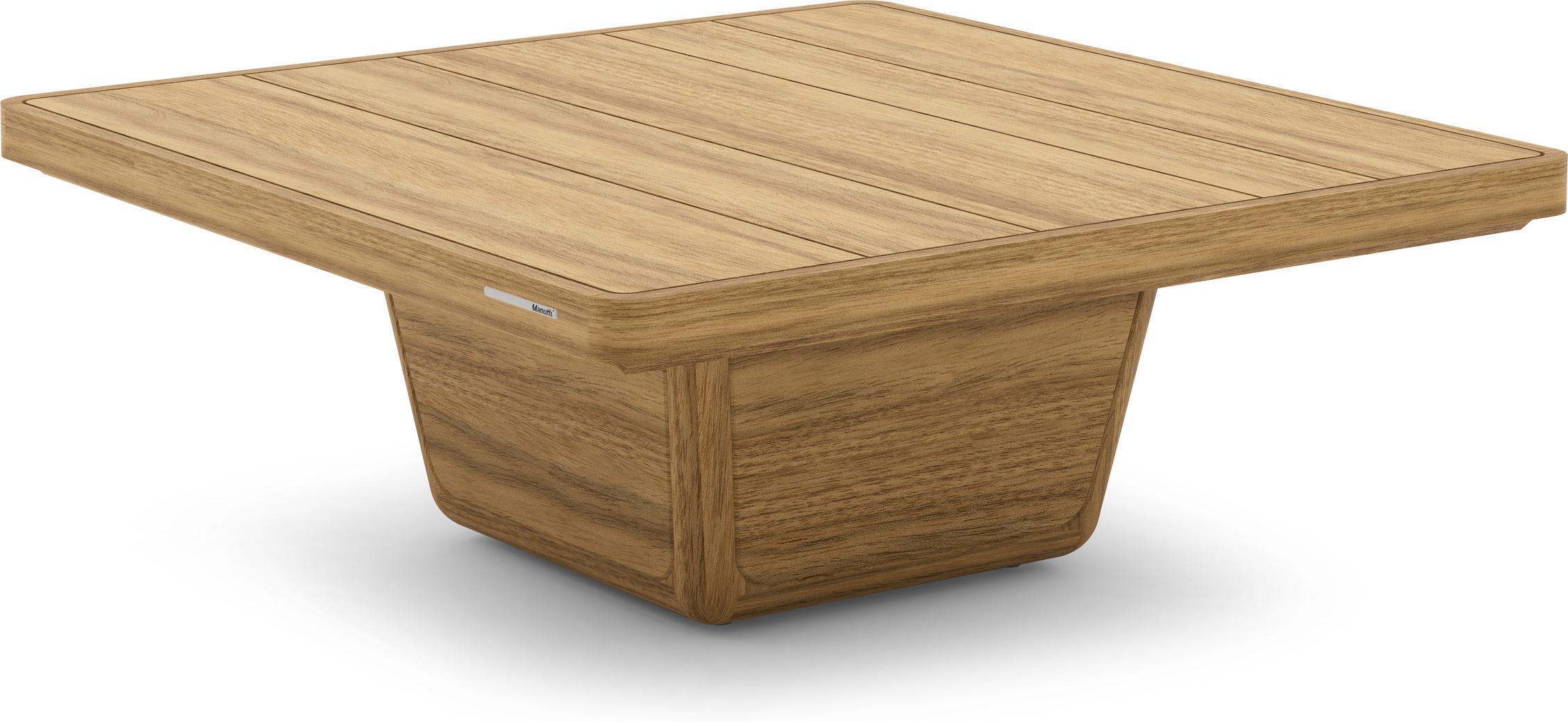 Cobi coffee table 79x79x30 brushed teak