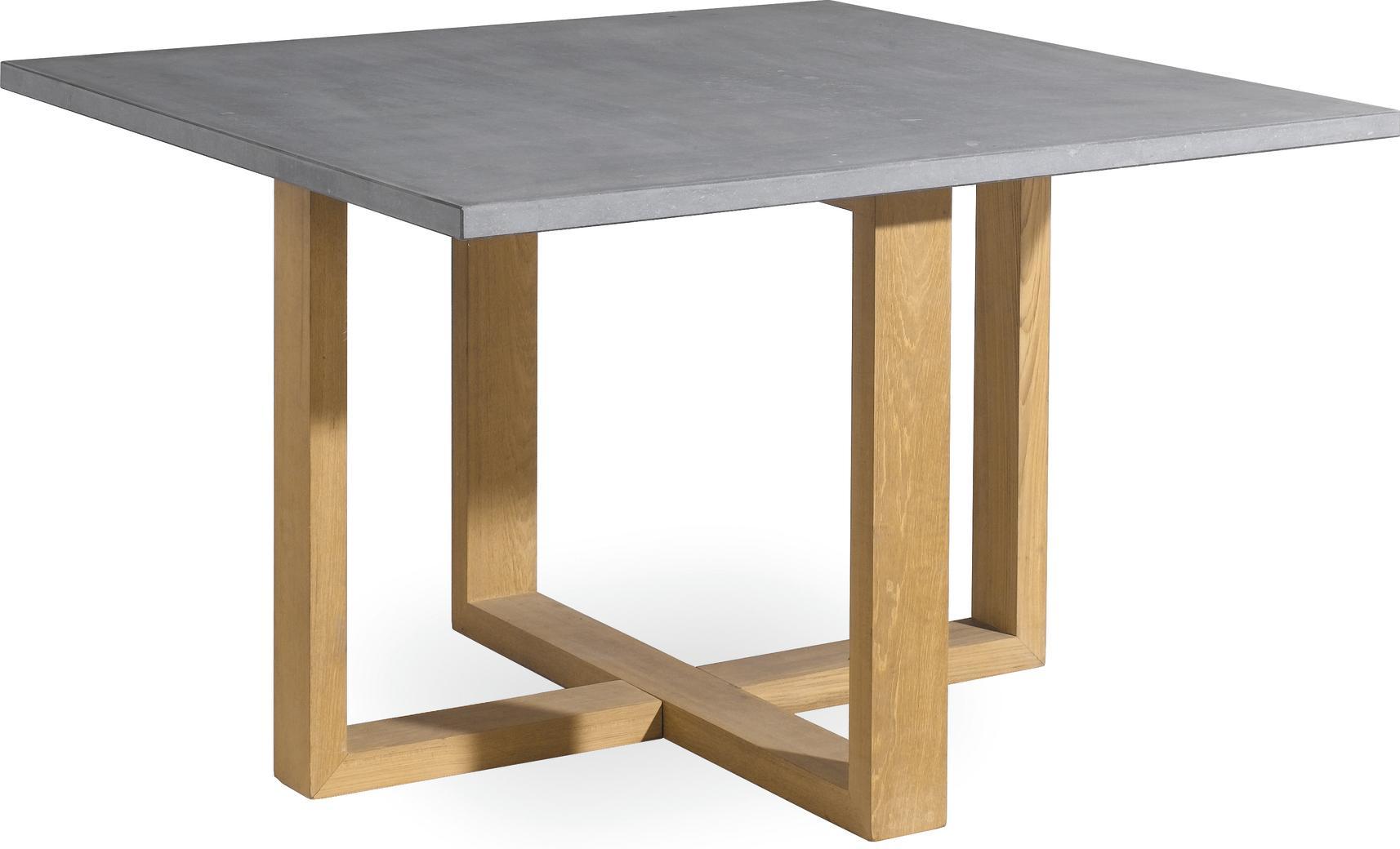 Tavolo da pranzo Siena - teak - pietra - 120x120