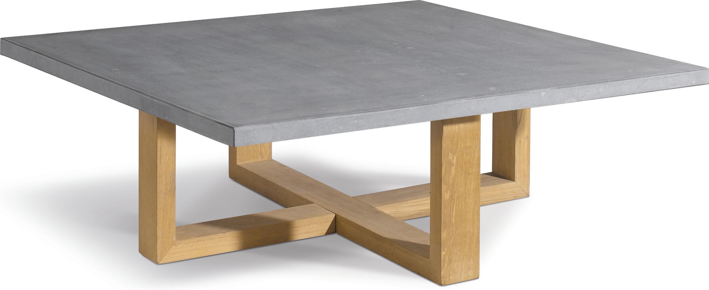 Siena Couchtisch - Teak - Stein - 120x120
