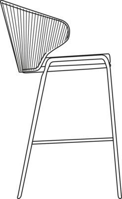 Awe Inspiring Radius Barstool 79 Rope Lava Silver Manutti Ibusinesslaw Wood Chair Design Ideas Ibusinesslaworg
